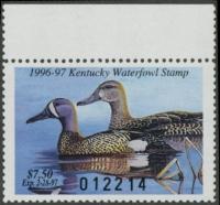 Scan of 1996 Kentucky Duck Stamp