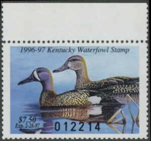 Scan of 1996 Kentucky Duck Stamp