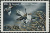 Scan of 2001 Kentucky Duck Stamp