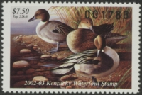 Scan of 2002 Kentucky Duck Stamp