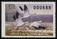 Scan of 2003 Kentucky Duck Stamp