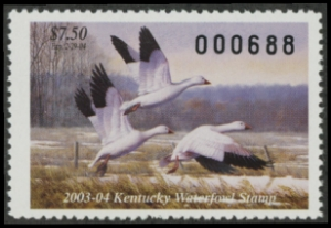 Scan of 2003 Kentucky Duck Stamp