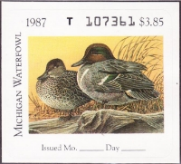 Scan of 1987 Michigan Duck Stamp