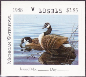 Scan of 1988 Michigan Duck Stamp