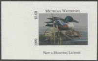 Scan of 1999 Michigan Duck Stamp