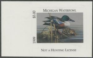 Scan of 1999 Michigan Duck Stamp MNH VF