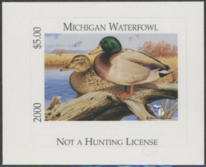 Scan of 2000 Michigan Duck Stamp