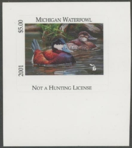Scan of 2001 Michigan Duck Stamp