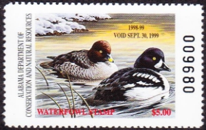 Scan of 1998 Alabama Duck Stamp