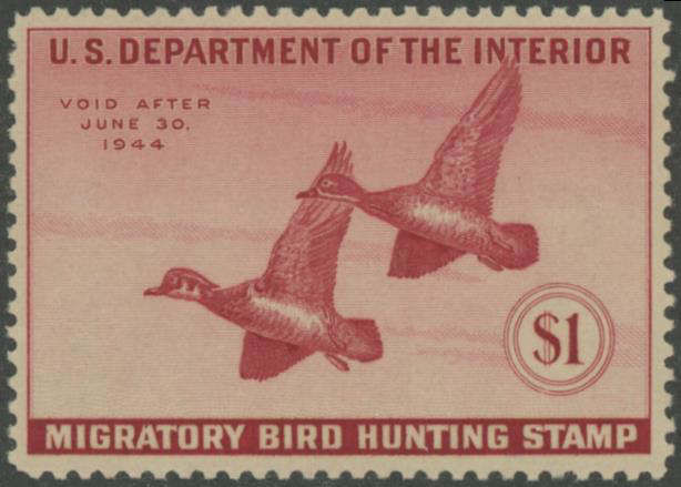 Scan of RW10 1943 Duck Stamp