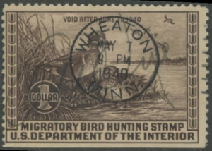 Scan of RW6 1939 Duck Stamp Used F-VF