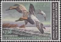 Scan of RW49 1982 Duck Stamp