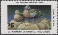 Scan of 1989 Iowa Duck Stamp