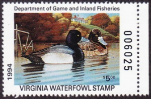 Scan of 1994 Virginia Duck Stamp