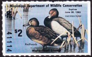 Scan of 1981 Mississippi Duck Stamp