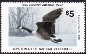 Scan of 1987 Iowa Duck Stamp