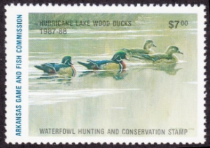 Scan of 1987 Arkansas $7.00 Duck Stamp MNH VF
