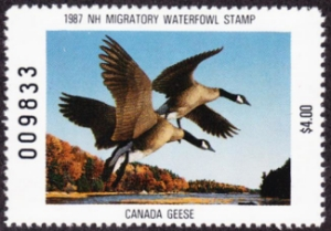 Scan of 1987 New Hampshire Duck Stamp