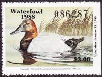 Scan of 1988 Missouri Duck Stamp