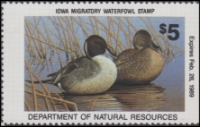 Scan of 1988 Iowa Duck Stamp