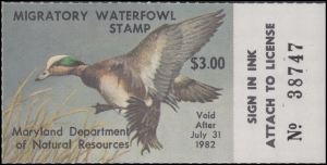 Scan of 1981 Maryland Duck Stamp MNH VF