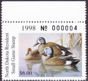 Scan of 1998 North Dakota Duck Stamp