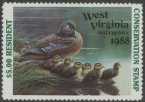 Scan of 1988 West Virginia Duck Stamp