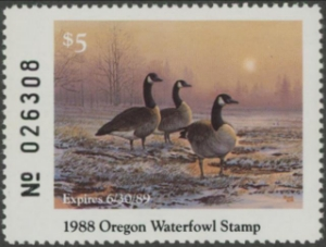 Scan of 1988 Oregon Duck Stamp