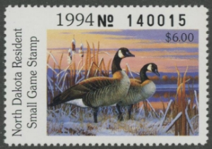 Scan of 1994 North Dakota Duck Stamp