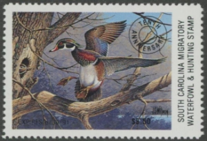Scan of 1990 South Carolina Duck Stamp