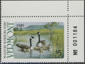 Scan of 1989 Vermont Duck Stamp