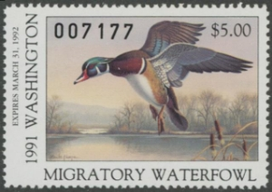 Scan of 1991 Washington Duck Stamp