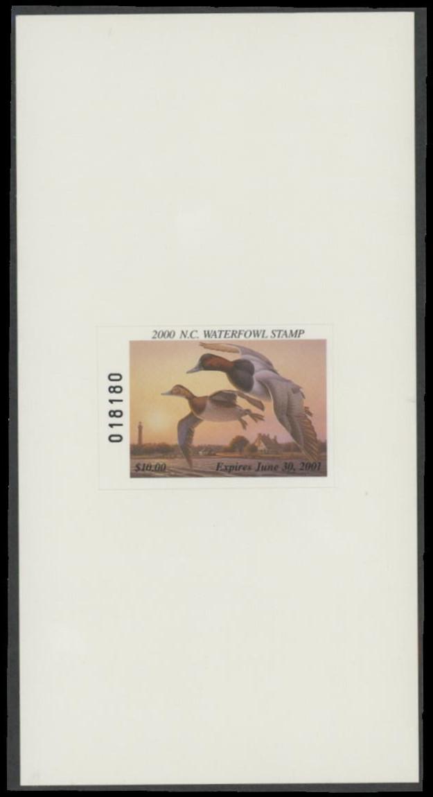 Scan of 2000 North Carolina Duck Stamp Hunter