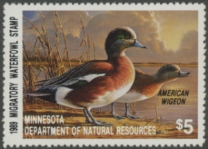 Scan of 1989 Minnesota Duck Stamp