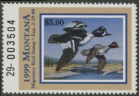 Scan of 1999 Montana Duck Stamp