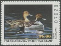 Scan of 1992 Nebraska Duck Stamp