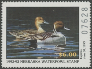 Scan of 1992 Nebraska Duck Stamp