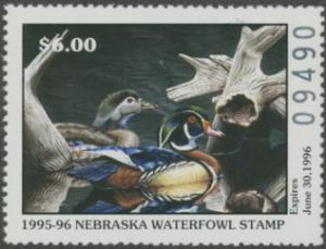 Scan of 1995 Nebraska Duck Stamp
