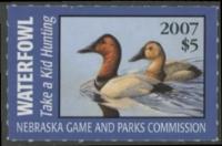 Scan of 2007 Nebraska Duck Stamp