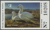Scan of 1989 Nevada Duck Stamp
