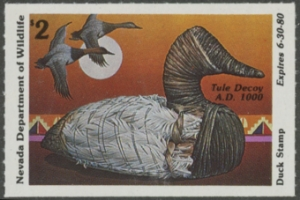 Scan of 1979 Nevada Duck Stamp - First of State