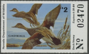 Scan of 1983 Nevada Duck Stamp