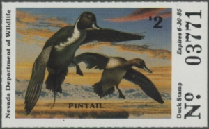 Scan of 1984 Nevada Duck Stamp