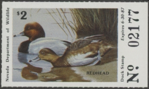 Scan of 1986 Nevada Duck Stamp
