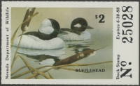 Scan of 1987 Nevada Duck Stamp