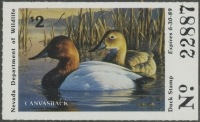Scan of 1988 Nevada Duck Stamp