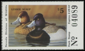 Scan of 2001 Nevada Duck Stamp