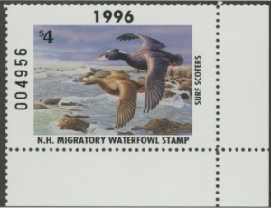 Scan of 1996 New Hampshire Duck Stamp