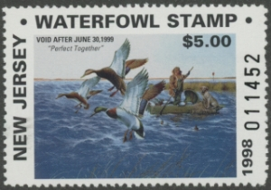 Scan of 1998 New Jersey Resident Duck Stamp