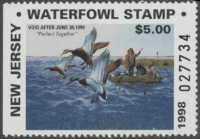 Scan of 1998 New Jersey Resident Duck Stamp Hunter Type